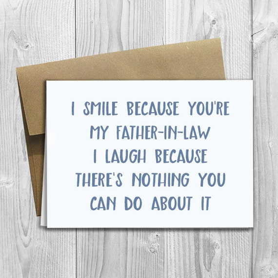 Printed i smile because youre my father in law 5x7 like this item bookmarktalkfo Choice Image