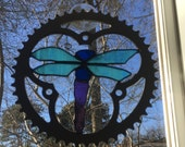 Dragonfly Stained Glass Bike Chain Rings