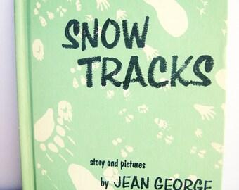 Children's Books, Snow Tracks, Books for Kid's, 1970's