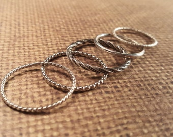 STACKING ring in sterling SILVER-ADD on
