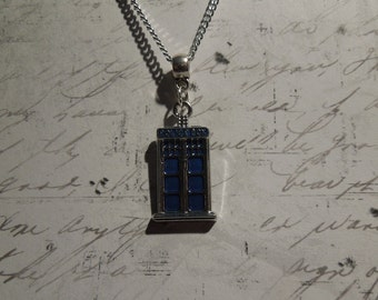 Dr. Who Tardis Necklace, Police Box