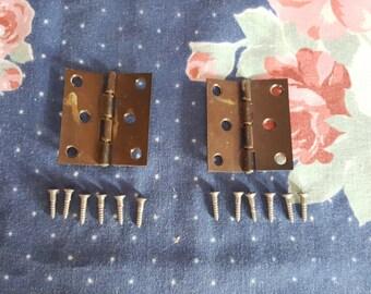 Pair of Brass Hinges