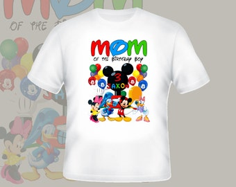 Mom Of Birthday Boy Shirt Personalized Shirt Custom Tshirt  p203