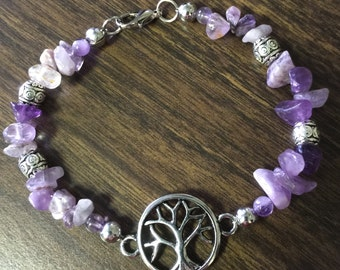 SALE! Silver Tree of Life with Amethyst