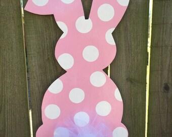 Easter Wreath, Easter Door Hanger, Easter Decorations, Bunny Door Hanger, Easter Wreaths, Rabbit Door Hanger, Easter, Easter door decor