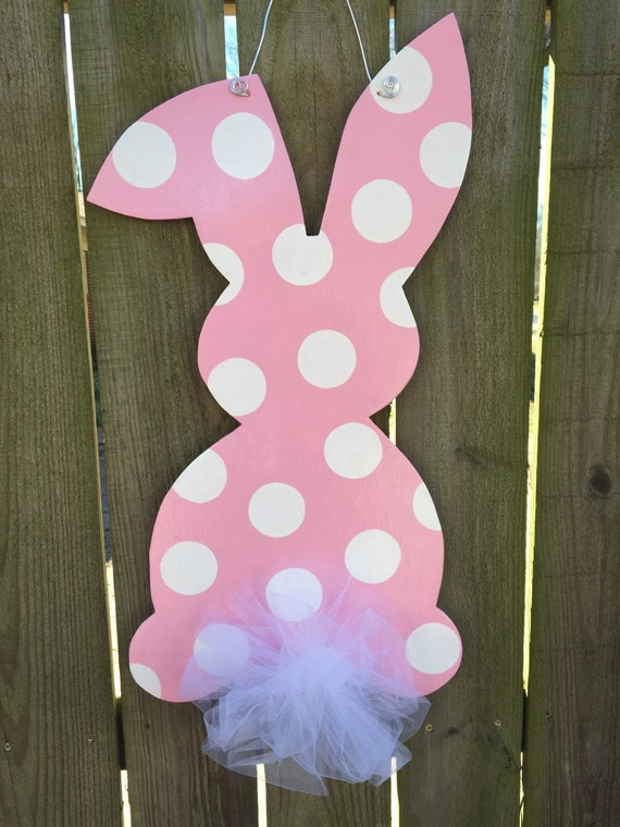 Easter Door Hanger Easter Decorations Bunny Door Hanger