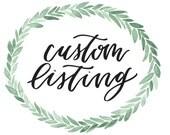 CUSTOM | hand lettered print for Chelsey