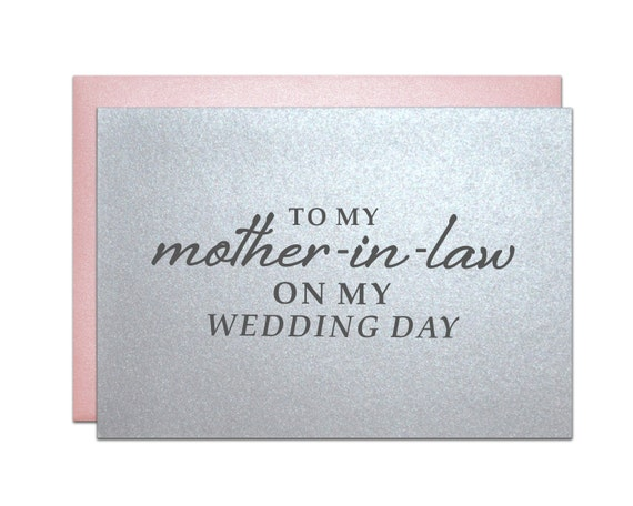 Mother In Law Wedding Card Gifts For Mother-in-law Premium
