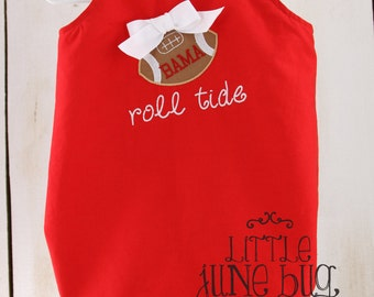 Girly Alabama Baby Bubble Romper, Personalized Alabama Baby Bubble Romper, Gameday Baby Romper, Girly Roll Tide Baby Bubble Romper