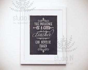 Teacher Gift, School Gift, Teacher Appreciation Gift, Back to School,  Student Gift, CHALKBOARD Style Printable