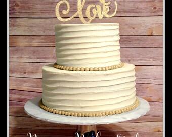 Wedding Cake Topper, Glitter Cake Topper, Love Cake Topper, Wedding Shower Cake Topper, Gold Wedding Cake Topper, Love wedding cake topper