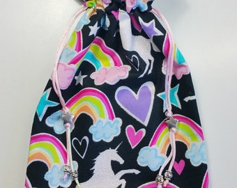 Unicorns and Rainbows Tarot Bag