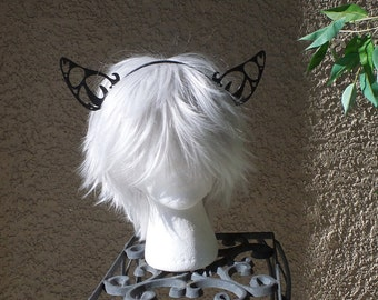 Large Butterfly Filigree Kitty Ears wolf ears fox  fairy  woodland fairy  headband 3D print (Ultra Light Weight Plastic) comic-con
