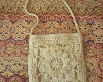Brooke - Small Floral Boho Crochet Bag