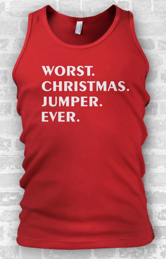 Worst Christmas Jumper Ever // Christmas Ideas // Mens Tanks