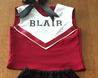 Cheer Outfit with White Overlay Top