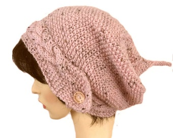 Slouch beanie, pixie hat, festival hat, ladies woolly beanie, Slouchy hat, Hats for women, elven beanie, Slouchy beanie Hand knitted hat