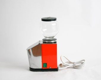 Quick Mill Omre Vintage Red Electric Coffee Grinder - Made in Italy
