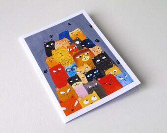 Funny cat card Birthday card mom - funny birthday cards - birthday card cat - funny cat cards - cat birthday card - cute cat card
