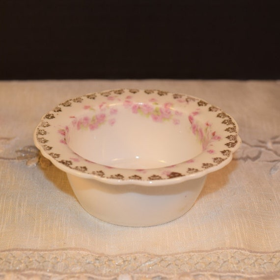 german shabby chic dish vintage pink roses gold accents votive. Black Bedroom Furniture Sets. Home Design Ideas