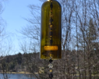 Wine Bottle Frog Wind Chime/Frog Wind Chime/Wine Bottle Wind Chime