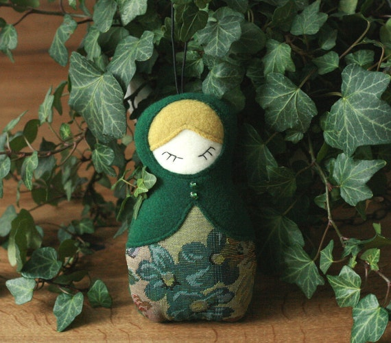 Sleeping Lady - Home Decoration Babushka Doll Motrjoshka Russian Doll Home decor Fabric ornament Holiday gift idea Handmade decoration