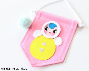 Tumble doll mini banner, Roly Poly doll banner