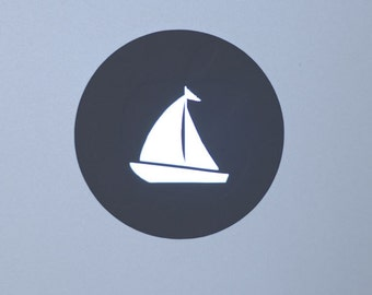 Sailboat vinyl decal/sticker for Macbook Air & Pro
