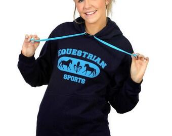 Horse Hoodie - Equestrian Sports Horse Sweatshirt
