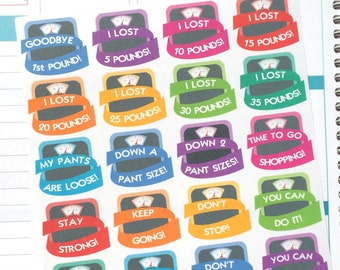 Weight Loss / Lose Weight Celebration Planner Stickers