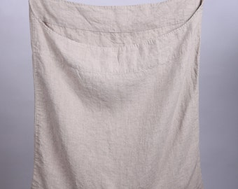 Linen laundry bag / Linen bag / Hanging laundry bag / Wall laundry bag / Laundry Hamper Bag
