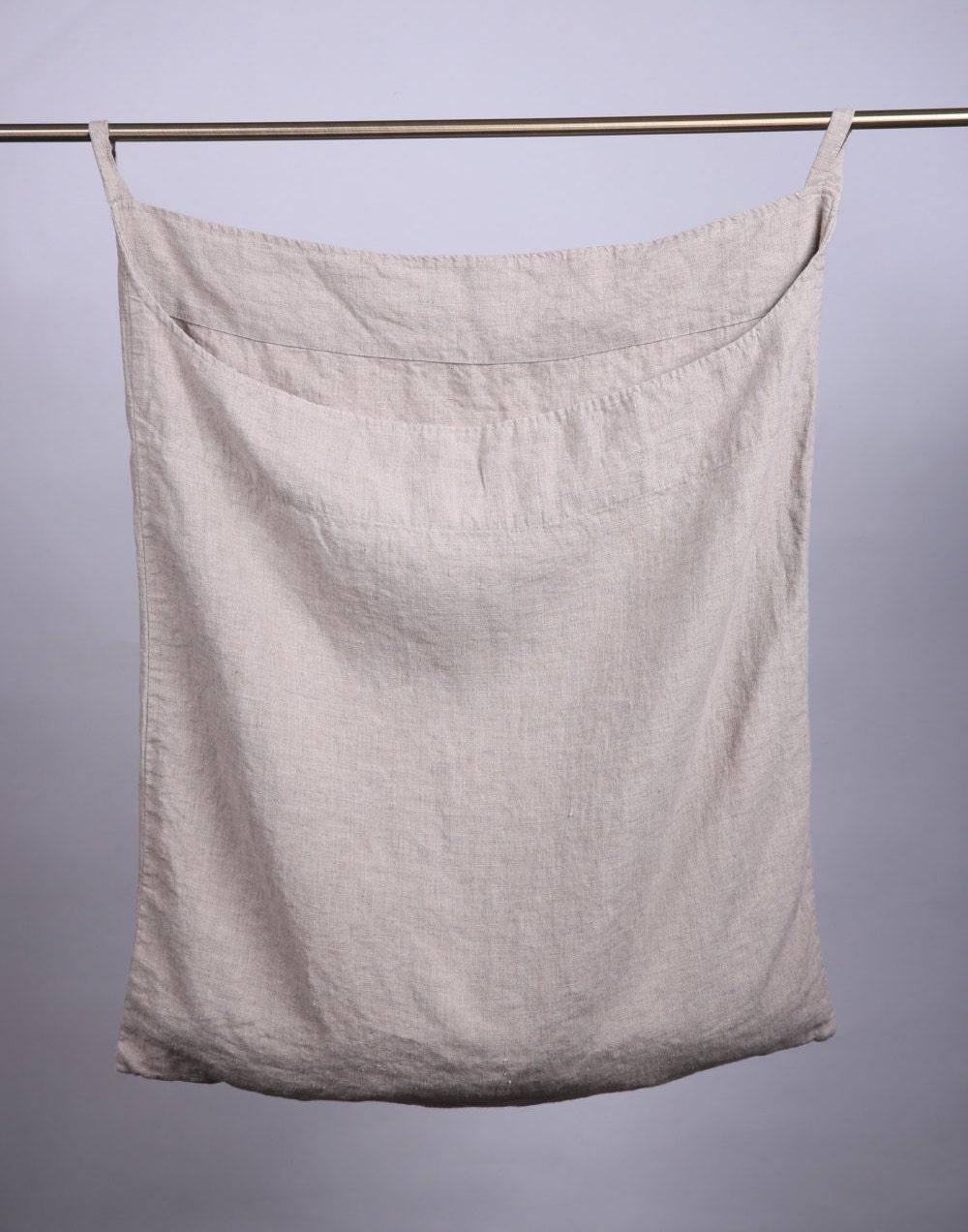 Linen Laundry Bag Linen Bag Hanging Laundry Bag Wall