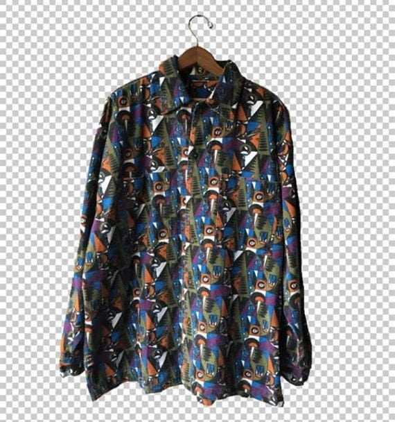 3xl retro 8ball funky psychedelic chip pepper flannel for Chip and pepper t shirts
