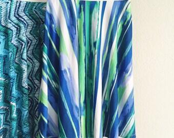 SUMMER Flare Skirt GreenWater / Summer fashion / Aline skirt