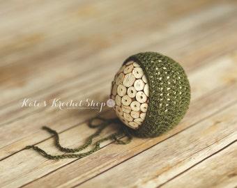 Army Green Newborn Bonnet Photography Prop