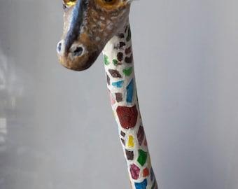Giraffe,  gift giraffe, giraffe papier mache,  giraffe statue,  Giraffe art, color giraffe, mood buy a giraffe