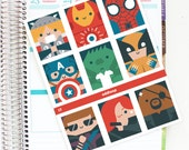 Superheroes Full Box Planner Stickers - For use with Erin Condren Vertical Lifeplanner // J7