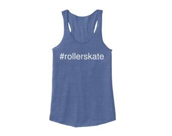 Hashtag #rollerskate Racerback, Blue