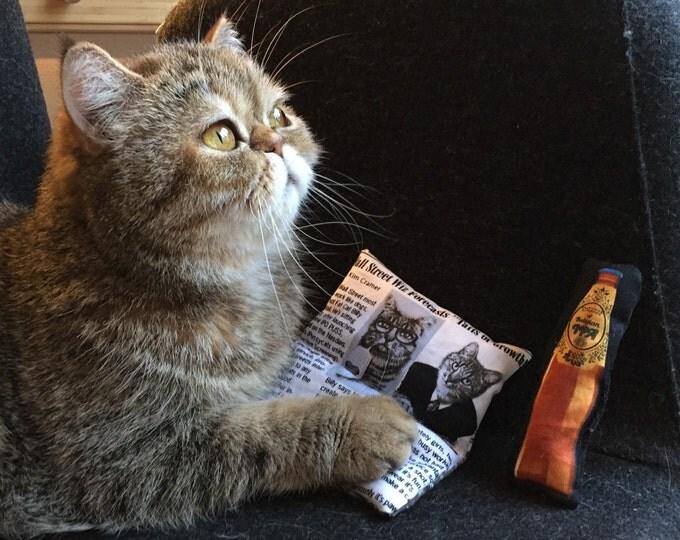 Jouet pour chat Journal - coussin au catnip
