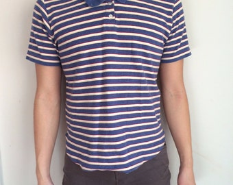 men's small, vivid, bold, striped shirt