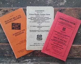 Railroad booklets, railroad ephemera, Union Pacific Railroad books