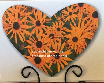 Greeting Card - Daisy Heart photo