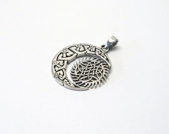 Celtic Crescent Sun Silver 925 Celtic jewellery charms