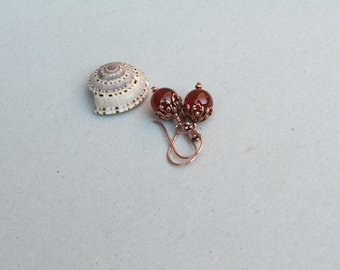Filligree Carnelian Earrings