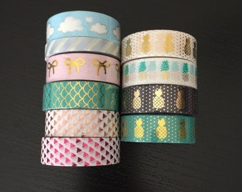 """24"""" SAMPLES of Simply Gilded foil washi tape (M10)"""