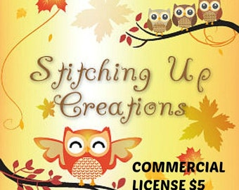 Stitching Up Creations Commercial License To Sell Finished Items Using My Patterns