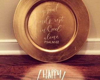 Bible Verse Plate