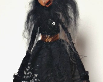 Halloween Witch, Witch Doll, Halloween Decoration, Polymer Clay Doll