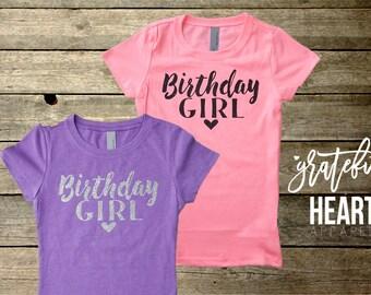 Girls Birthday shirt, Birthday girl shirt, Glitter Birthday shirt, Toddler Birthday, Two year old birthday shirt, Girls Birthday outfit