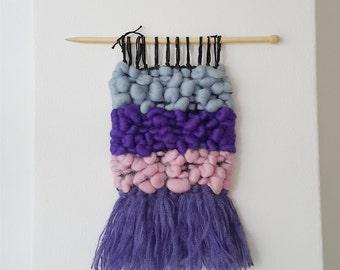 Hand woven wall hanging, wall tapestry, weaving, fiber art, textile art, gift idea, tissage mural